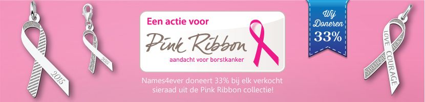 Pink Ribbon Sieraden Banner