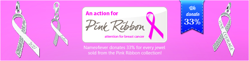 Pink Ribbon jewelry Banner
