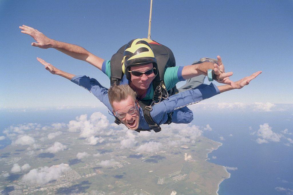 Eindexamen cadeau parachute springen