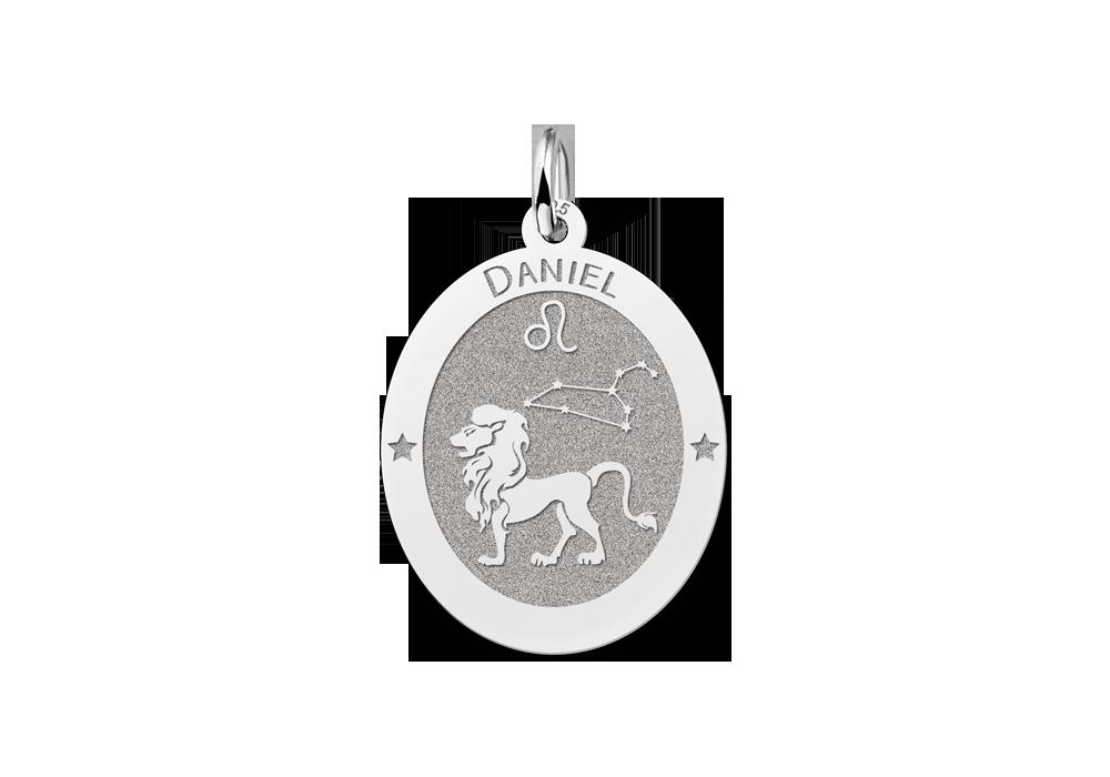 """Ovaler Anhänger Sternzeichen Löwe Silber"""" alt="""