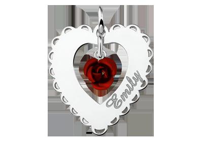 Het hart weggeven symbool