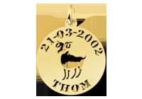 Hanger goud dierenriem Ram