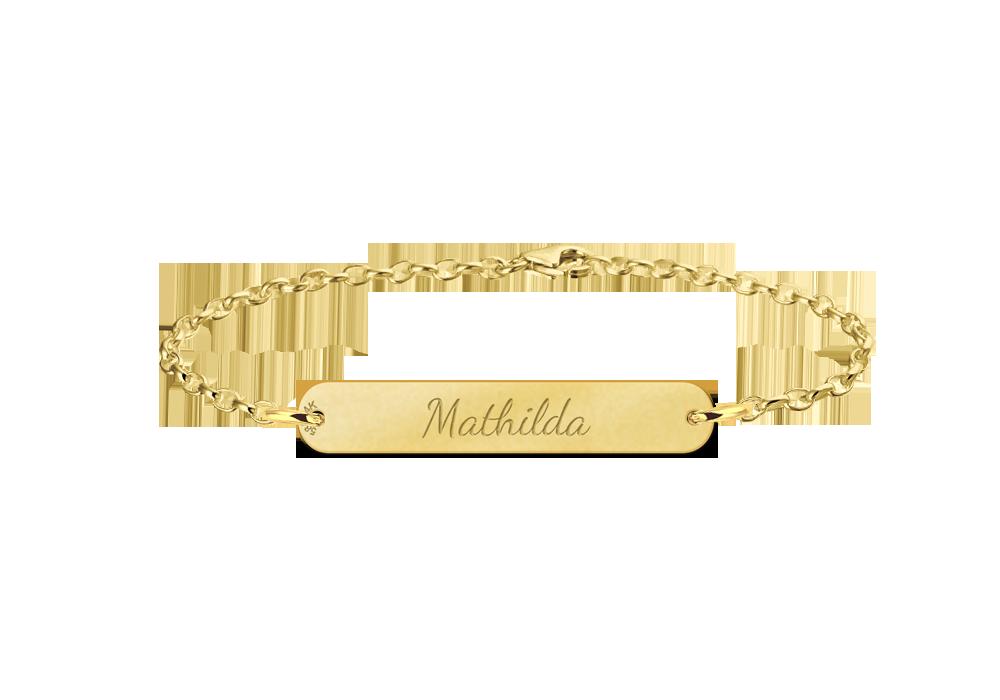 Gouden naamarmband