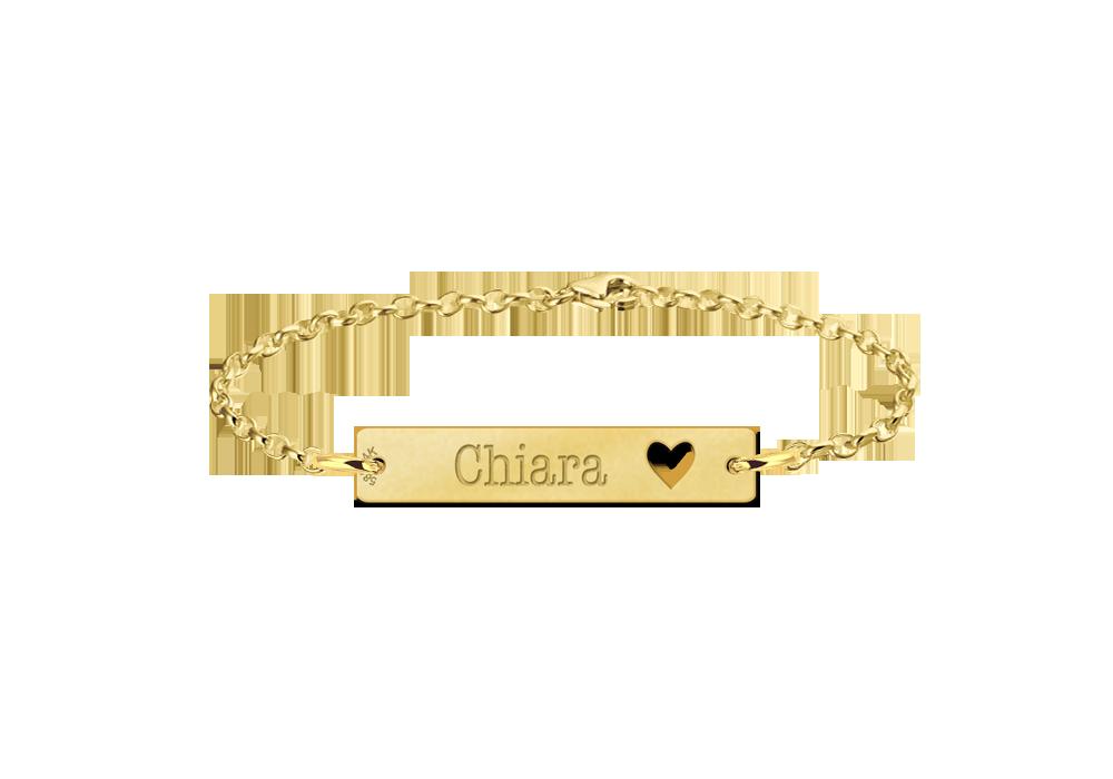 Armband mit Namen Gold