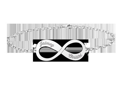 "Silver infinity bracelet "" alt="