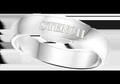 """Zilveren ring met naam 4mm"""" alt="""