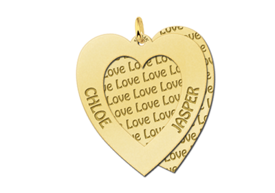 goldener Herz Anhänger