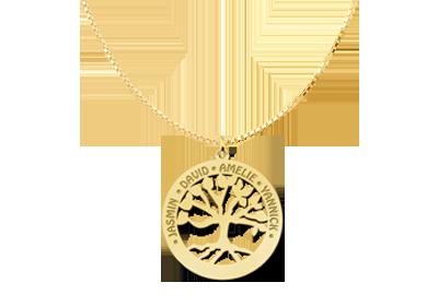 Lebensbaum Kette aus Gold