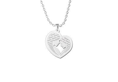 "Mother daughter pendant silver"" alt="