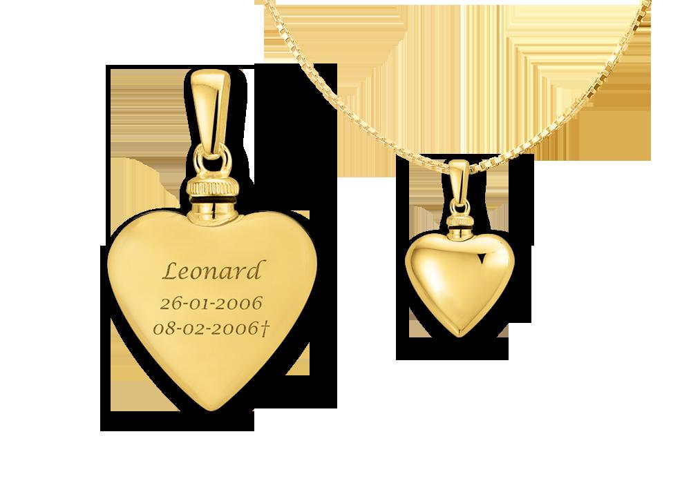Gouden hartvormig assieraad