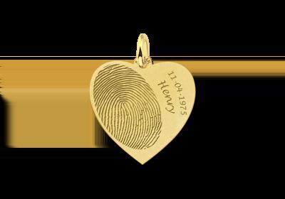 Gouden vingerafdruk hart