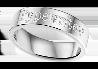 gravierter Ring stahl 6mm