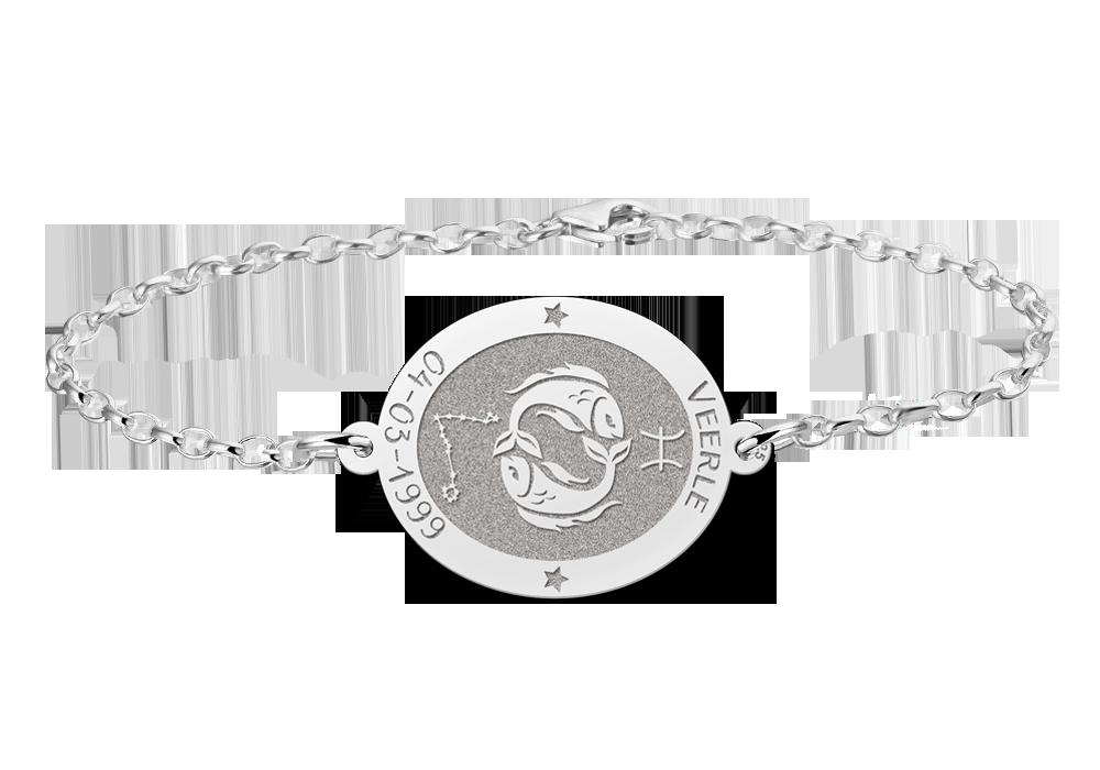 """Silver bracelet pisces"""" alt="""