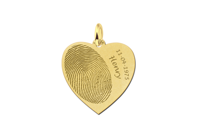 Golden fingerprint heart
