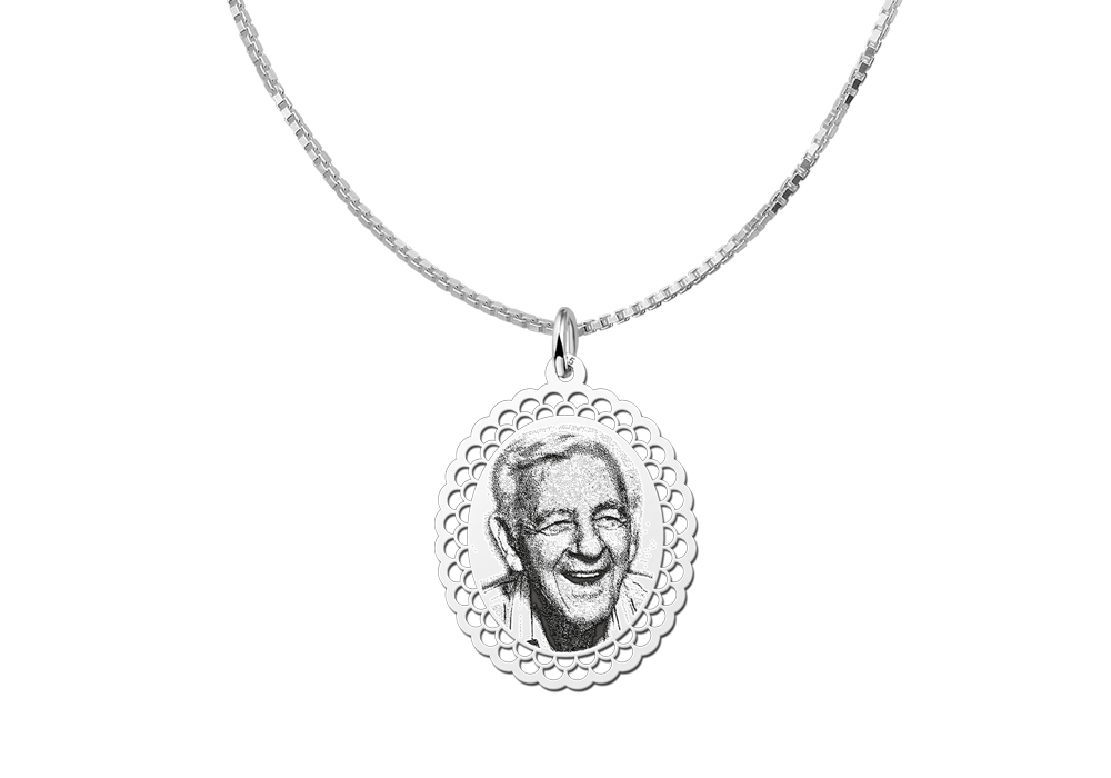 Silver photo pendant