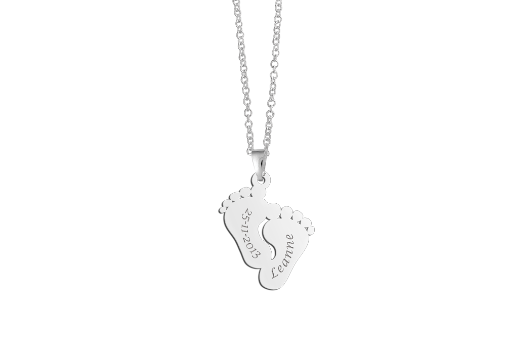 "silver babyfeet pendant"" alt="