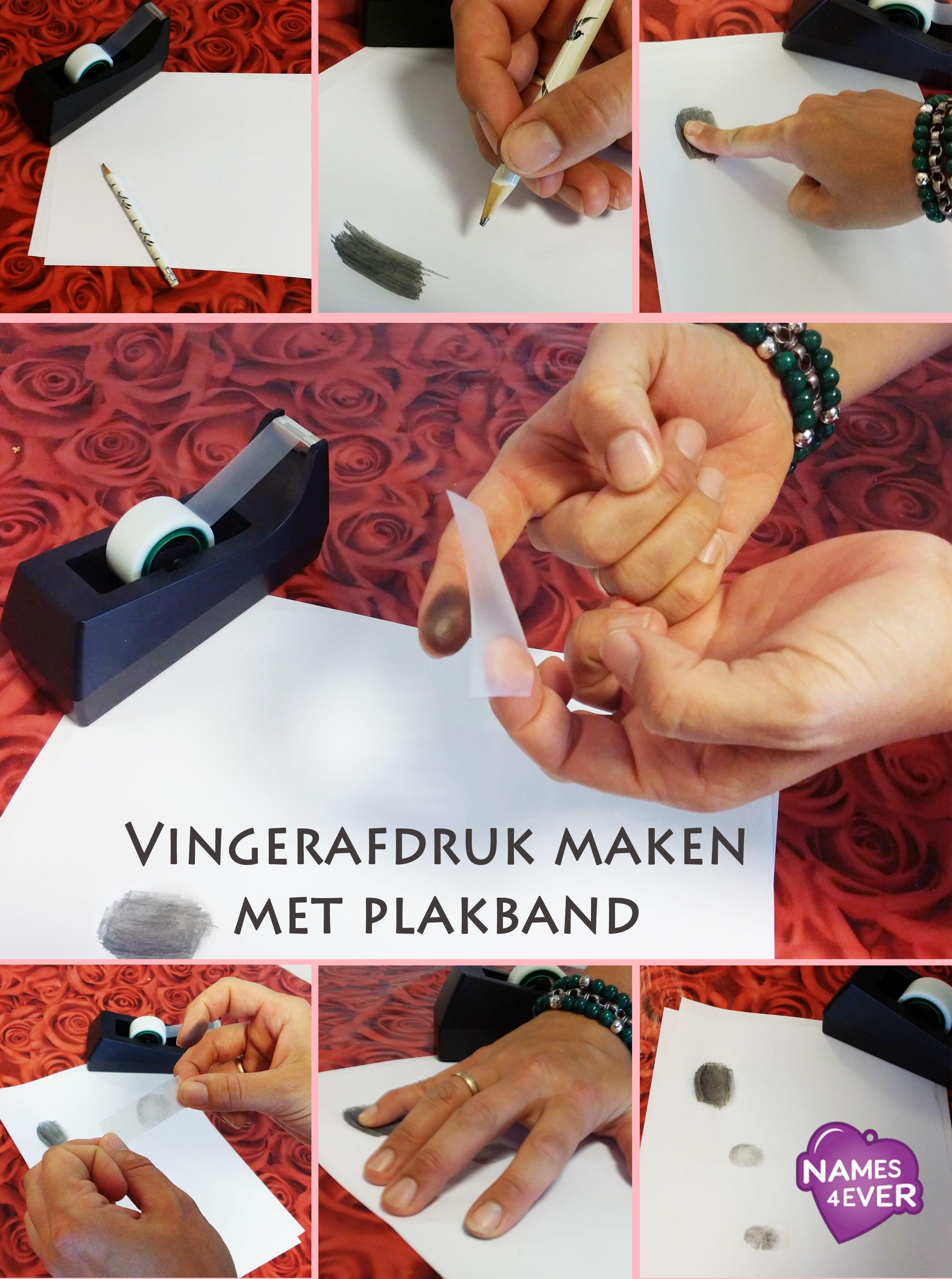 Vingerafdruk maken met plakband